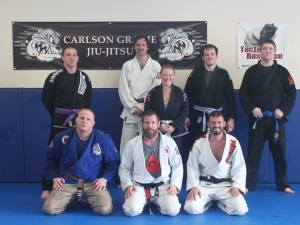 A small but dedicated group braved the winter weather for first-class training